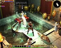 Titan Quest: Consulting the oracle of Delphi.